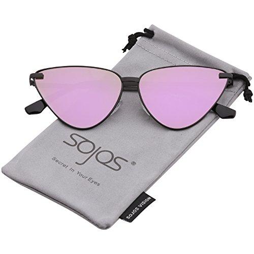 8ad146b6be11 SOJOS Clout Goggles Cat Eye Sunglasses Vintage Mod Style Retro Kurt Cobain  Sunglasses SJ2044