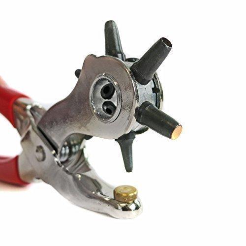 S&R Profi Revolverlochzange /MADE IN GERMANY/ Lochzange mit 6 auswechselbaren Lochpfeifen 2 - 2,5 - 3 - 3,5 - 4 -5 mm