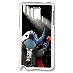 Note 4 case,Note 4 PC white case,diy Note 4 case,Drop Protection,Shock Absorbent triangle for samsung note 4,Phantom of the Opera by mcsharks