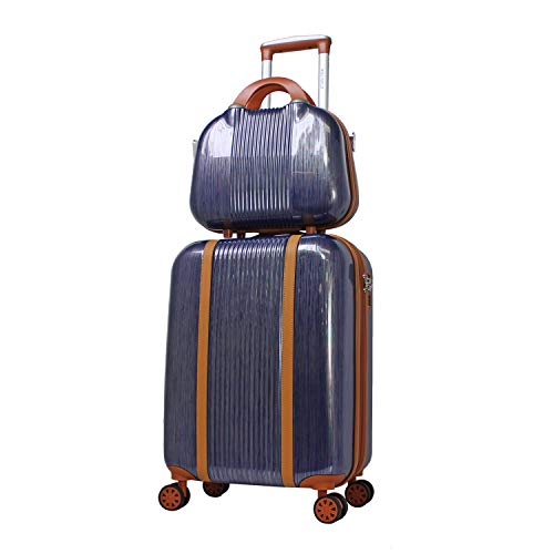 World Traveler Classique Lightweight Spinner 2-Piece Luggage Set-Blue
