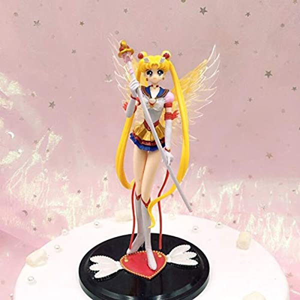 Sailor Moon Tsukino Usagi Anime Action Figure Cake Topper Figurine Kid Gift Toys