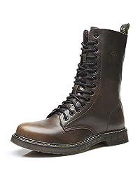 Men's Waterproof Anti-Slip Outdoor Work Hiking Martin Combat Boot Winter Shoes