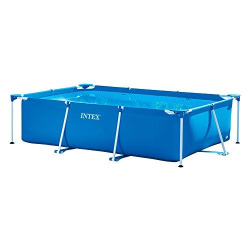 Intex 28272 Metal Frame Rectangular Pool without Filter Pump, 3834 L, Blue,...