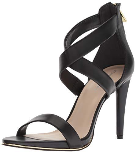 Kenneth Cole New York Women's Brooke Cross Strap Dress Sandal Heeled, Black, 11 M US