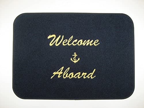 Cape Hatteras Welcome Aboard Boat Mat