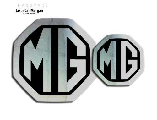 59/mm//mm MG ZS LE500/estilo cromo y negro parte delantera y trasera Insertar insignias MK2/