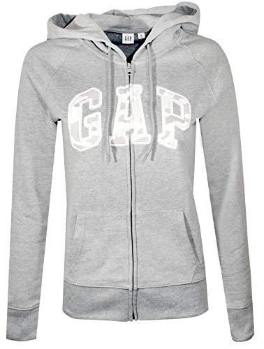 GAP Womens Fleece Arch Logo Full Zip Hoodie (X-Large, Grey (Camo)) (Womens Full Zip Camo)