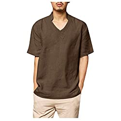 Men's Thin Breathable Beach T-Shirt