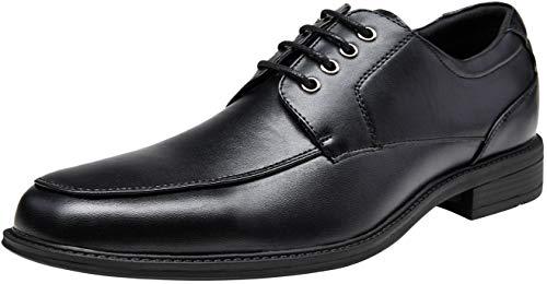 VEPOSE Men's Dress Shoes Formal Square Toe Lace up Oxfords(9,Black-b) ()