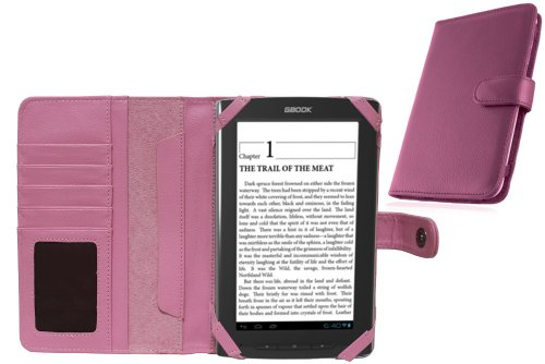 - Navitech Pink Bycast Leather Flip Open 7 Inch Book Style Carry Case/Cover Compatible with The Archos Arnova GBook (Sold in HMV)