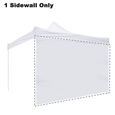 Zomom 1Pc 10x10 Ft EZ Pop Up Canopy Tent Side Wall Party Tent Shelter Sun Wall Sidewall Oxford White: Garden & Outdoor