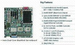 Supermicro dual LGA771 Xeon/ Intel 5000P PCI-E 2GbE eATX X7DBE X7DBE-O - HOT ITEM THIS MONTH!!!