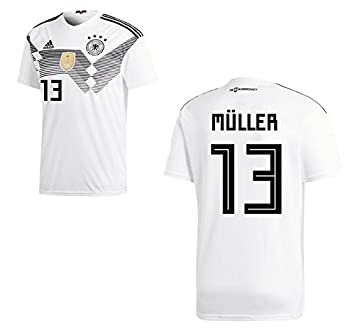 34948baba85 Men's DFB jersey 2018, Home WC - Müller 13.: Amazon.co.uk: Sports ...
