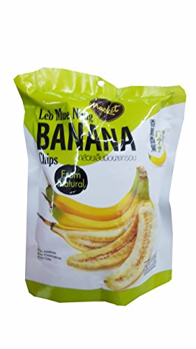 4 packs of Leb Mue Nang Crispy Banana chips from natural, Delicious Fruit Snack by Nacket, Thailand.(43 g/ (Banana Flasher Costume)