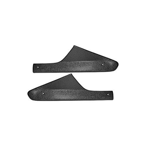 MACs Auto Parts 42-48317 Roof Sail Panel - Black ABS Plastic - All 2 Door Except Fastback