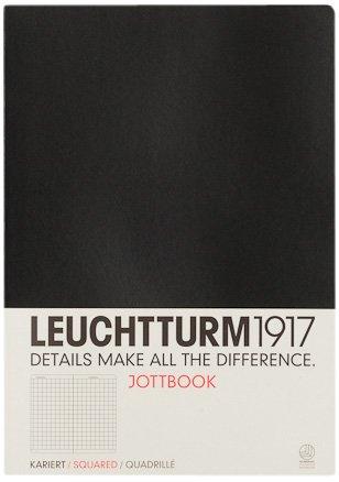 Leuchtturm Albenverlag Jottbook A4 Black (squared) by Leuchtturm Albenverlag