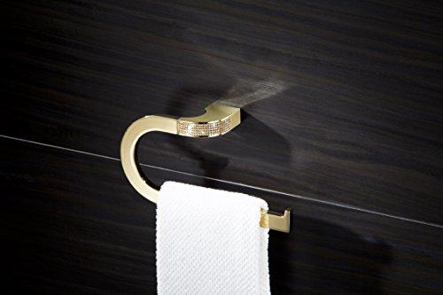 Cecilia Luxury Gold Swarovski Crystals Small Towel Ring, Limited Edition by Secret Bath (Image #2)