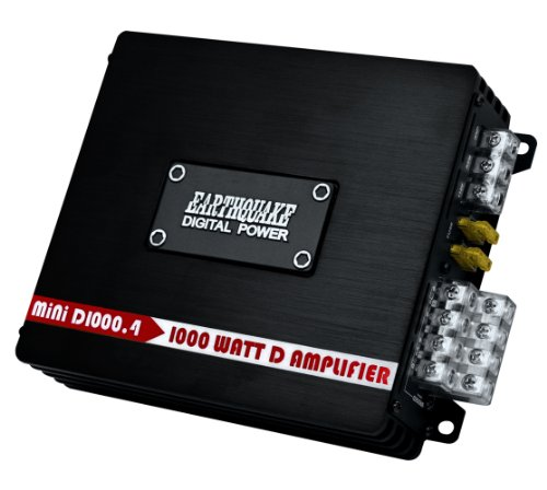 Earthquake Sound MiNi D1000.4 Stereo Class D 4-Channel Car Amplifier, 1000 - New Optical Vue