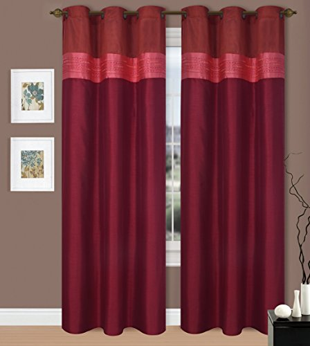 Gorgeoushome Many Colors 1 Silky Window Drape Curtain Treatment 2 Tone Valance
