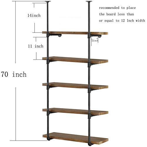 Buy 5 tier bookshelf black