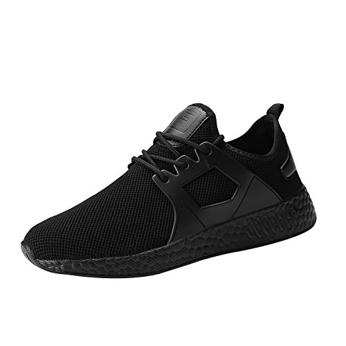 Kundork Mens Running Shoes Casual Walking Sneakers Workout Athletic Shoe for Men (Full Black45)