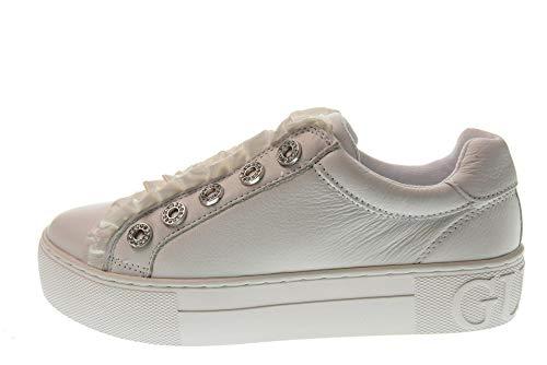 Zapatos Zapatillas Guess Con Mujer White Plataforma Cordones Fl5mzrlea12 Sin Bianco dUE4qwgE