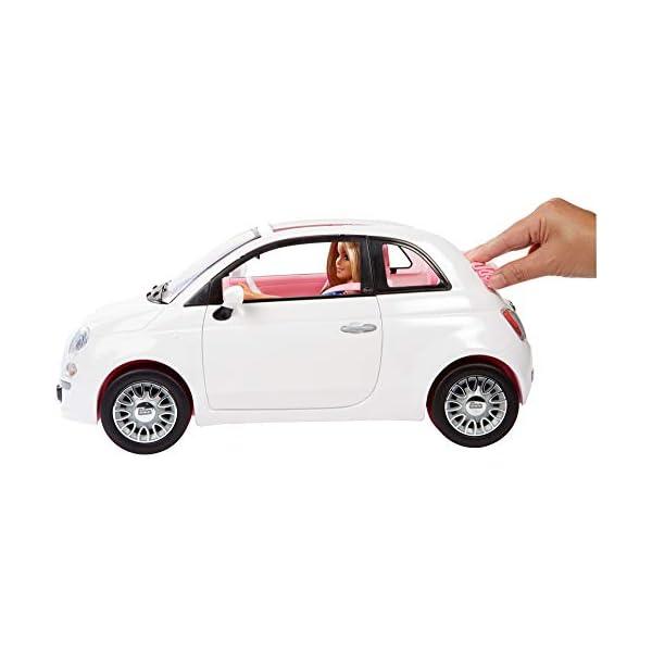 Barbie FVR07 Bambola con Fiat 500, Macchina con Dettagli Realistici, Portiere Apribili 2 spesavip