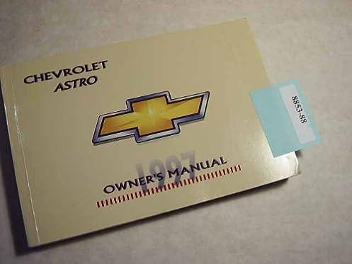 amazon com 1997 chevrolet astro owners manual chevrolet books rh amazon com 1997 chevy astro owners manual 1998 Chevrolet Astro Van