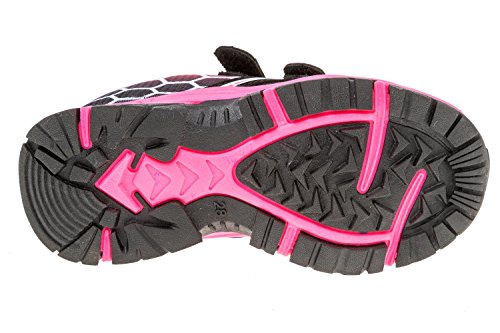 gibra - Zapatillas de sintético/textil para niño negro / rosa