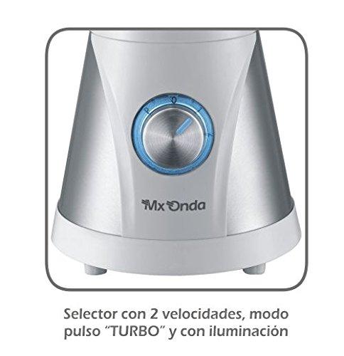 Mx Onda MX-BBM2151 Batidora de Vaso, 600 W, 1.5 litros, 0 Decibeles, Negro: Amazon.es: Hogar