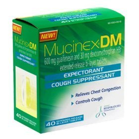 Mucinex DM-Expectorant/Cough Suppressant, 120 Tablets (3 Packs of 40 Count)