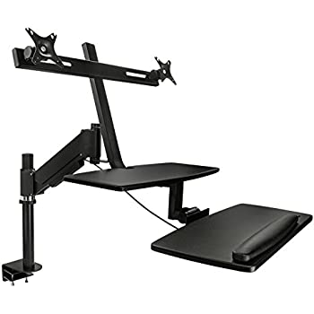 Amazon Com Mount It Sit Stand Desk Converter With Dual