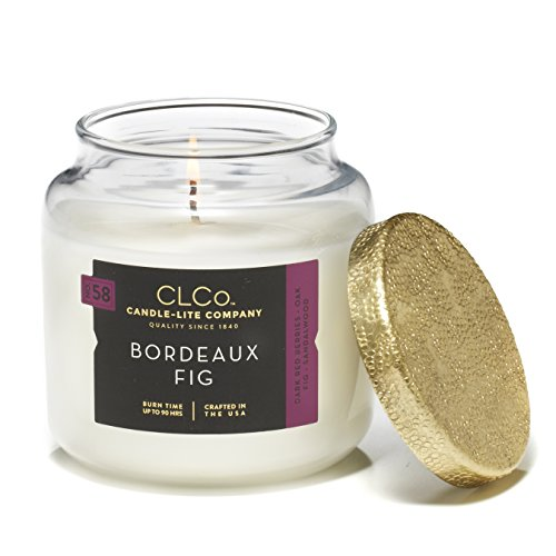 Candle Lite Candle - CLCo. by Candle-Lite Company Scented Bordeaux Fig Single-Wick Jar, 14 oz, Off White