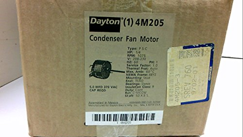 Dayton 4m205 Fan Motor Psc 14 Hp 1075 208230v 48yz Amazonco. Dayton 4m205 Fan Motor Psc 14 Hp 1075 208. Wiring. Dayton 2mdv4 Capacitor Wire Diagram At Scoala.co