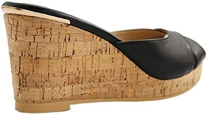 6c8e8dc84df MERUMOTE Women's Wedges Sandals Platform Shoes Summer Middle Heels ...