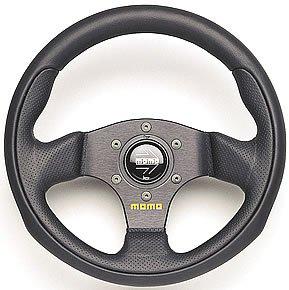 MOMO Team Steering Wheel - Custom Style Auto Steering Wheel - Team Size - 300MM (Momo Style Steering Wheel)