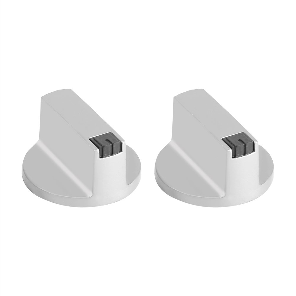 AYMARIO Stove Knobs, 2pcs 6mm Zinc Alloy Gas Stove Knobs Cooker Oven Hob Control Switch for Home Kitchen Use