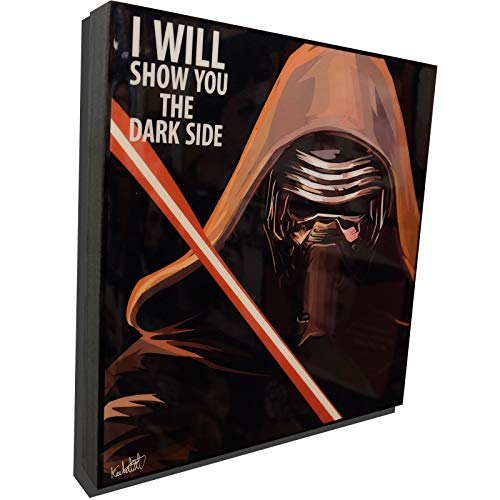 Kylo Ren Star Wars Poster POP Art Print Canvas Quotes Wall Decals Framed Fan Artwork