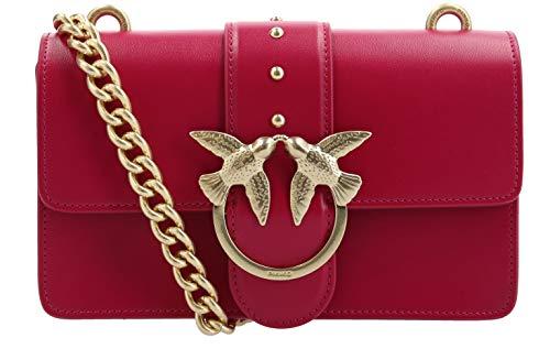 Pinko.   Love Simply 5 Sac rouge avec détails dorés Chaîne 1p216u Y4ym R52