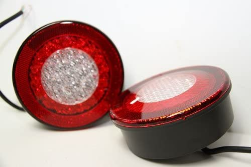 K-Lite社製 LED 丸型 テールライトL 左右セット