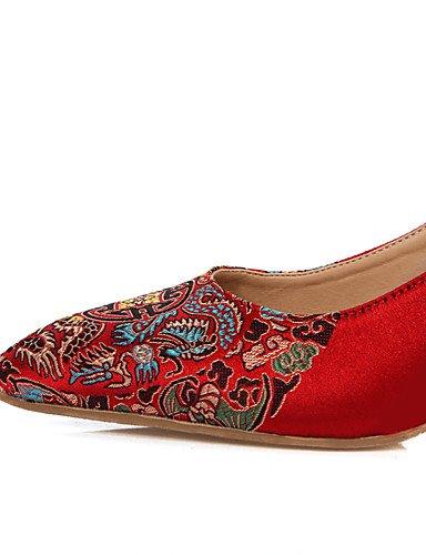 Cn39 Boda us8 Tacones Fiesta mujer Punta tacones Cn36 Zapatos Eu39 Abierta us6 Uk4 Noche sandalias Zq boda Y rojo De Eu36 Uk6 Red Red EwUqxA