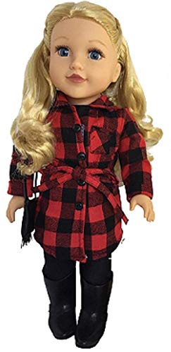 - Newberry 18 Inch Doll Olivia with Blonde Wavy Hair, Blue Eyes and Spring Jacket, Leggings, and Boots