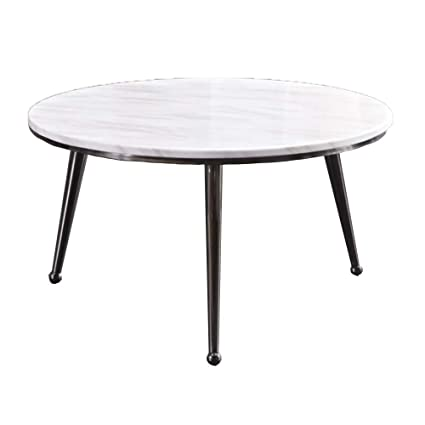 Tables Huo Coffee Round Side Marble And Metal Legs Design 60