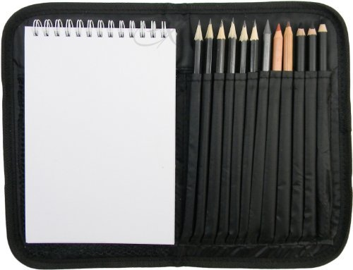 One Drawing Kit (Compact and Portable Sketch Folio 1 Drawing Kit with Art Supplies)