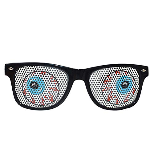 BESTOYARD Funny Dance Party Makeup Glasses Zombie Eyeball Eyeglasses for Masquerade Party -