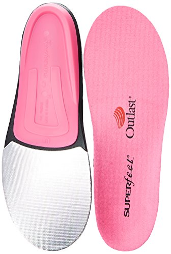 Superfeet Women's Hot Pink Premium Insoles,Pink,B: 4.5 - 6 US (Pink Insoles)