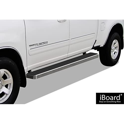 APS iBoard Running Boards (Nerf Bars | Side Steps | Step Bars) for 2004-2006 Toyota Tundra Double Cab Pickup 4-Door | (Silver 6 inches) hot sale