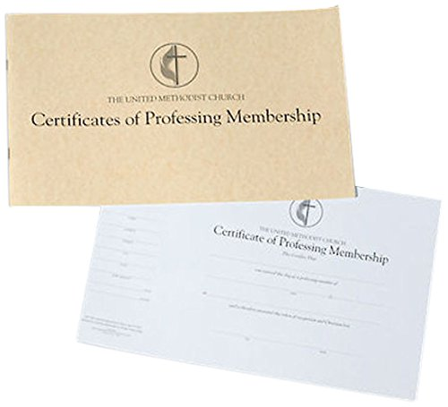 The United Methodist Church Certificates of Professing Membership (Pad of (Membership Certificate)