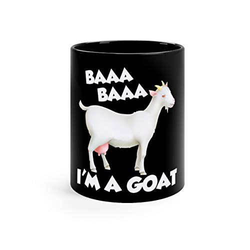 Baa A Goat Costume Animal Funny Halloween Party Water Mug Ceramic 11oz Black -