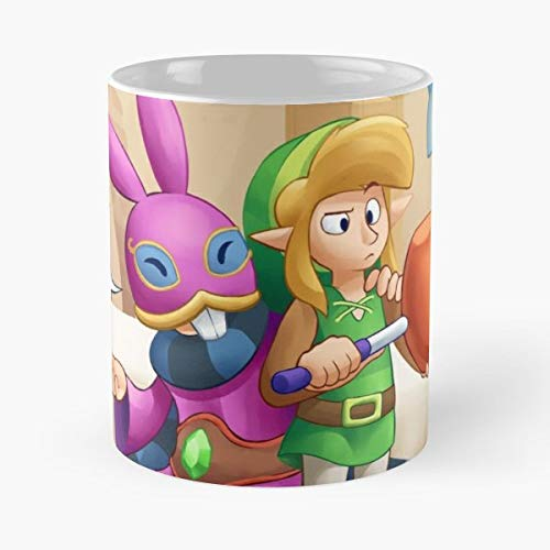 Zelda Legend Of The A Link Between Worlds -funny Gifts For Men And Women Gift Coffee Mug Tea Cup White-11 Oz. (Legend Of Zelda Link Between Worlds Ravio)